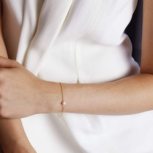 Benique Single Pearl Bracelet 14K Gold Filled